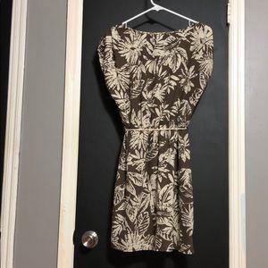 Forever 21 Dresses - Forever 21 Brown and Cream Leaf Dress